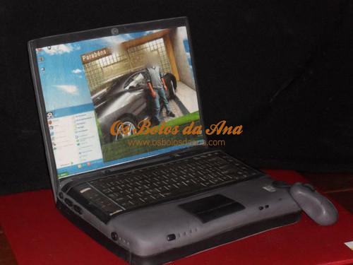 Computer Cakes, Laptop Cakes, Portable Cakes, Bolos decorados Computador, Bolos Artisticos Portatil, Bolos Computadores Portateis