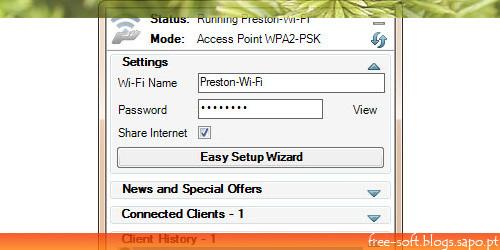 Partilhar internet sem router