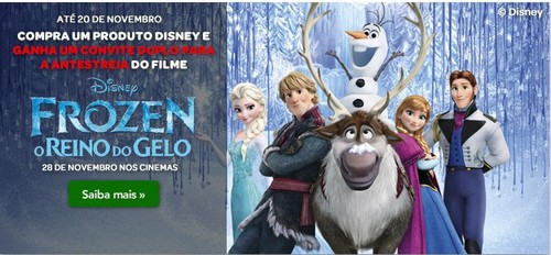 Oferta de Bilhetes Duplos | CONTINENTE | Frozen / Disney