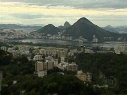 Vista do Alto da favela da Rocinha