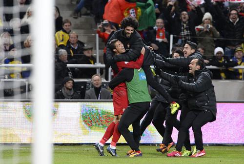 Play-off: Suécia-Portugal 201