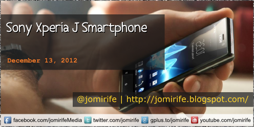 Blog Post: Sony Xperia J Smartphone