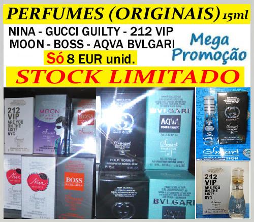 MegaPromoção de Perfumes Originais Só 8Eur