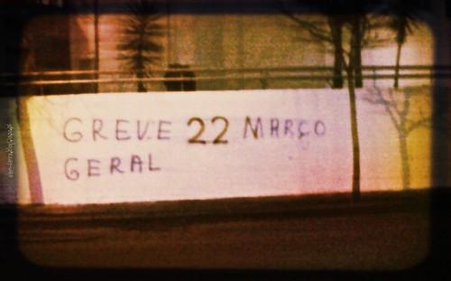 22 de Março, Greve Geral - Greve à Balda