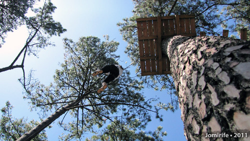 Parque Aventura: Slide lá por cima