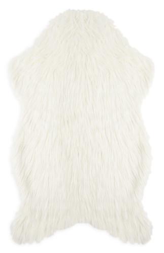 kimball-9611601-shaggy faux fur throw cream, grade