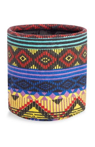 Kimball-missing-aztec print storage box fabric, gr