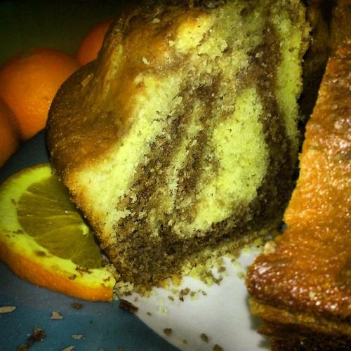 bolo mármore laranja chocolate