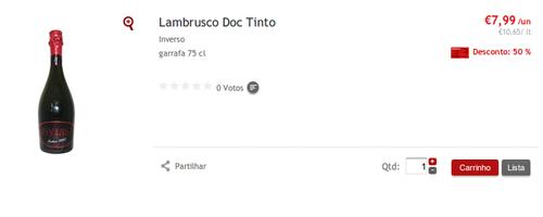 100% em Vinho Lambrusco Inverso