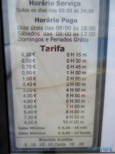 Figueira da Foz: Estacionamento de Caravanas no Parque das Gaivotas é pago (3) Tarifa [en] Caravan parking in Park Seagull is paid in Figueira da Foz, Portugal