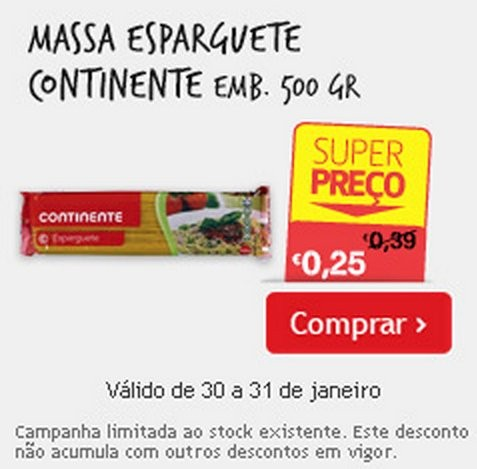 Super Preço | CONTINENTE | Esparguete