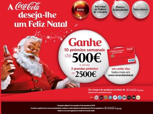 Promoção Natal | COCA-COLA | de 7 novembro a 11 dezembro