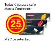 25% em cápsulas de café