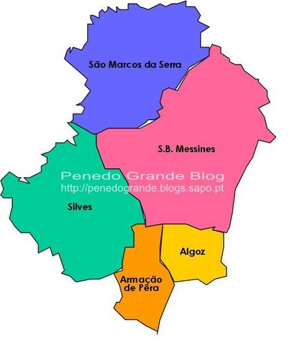silves mapa O novo mapa de Silves já se desenha   Penedo Grande silves mapa