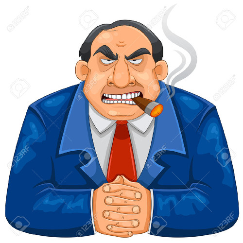24536386-tough-rich-boss-smoking-cigar-Stock-Photo