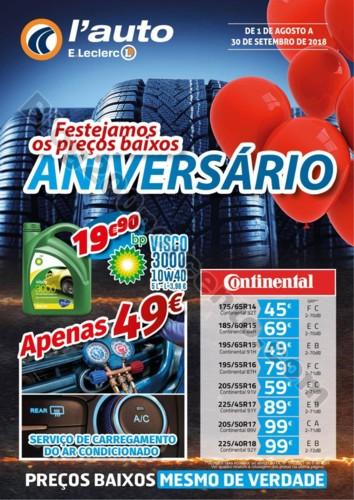 Antevisão Folheto E-LECLERC Aniversário auto pro
