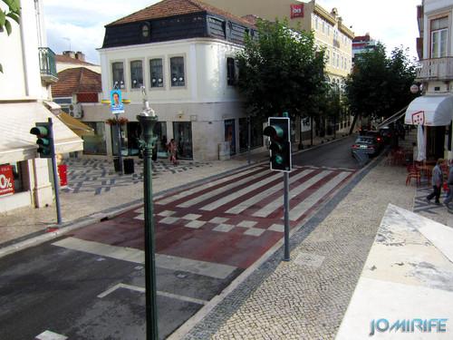 Cruzamento da calçada da Rua Cândido Reis Figueira da Foz com a Rua da Liberdade na Figueira da Foz