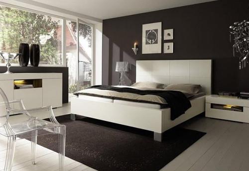 Quartos modernos de casal Decoração e Ideias ~ Quarto Preto E Branco Simples