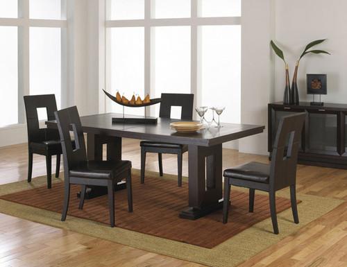 M veis elegantes na sala de jantar decora o e ideias for Simple dining room design ideas
