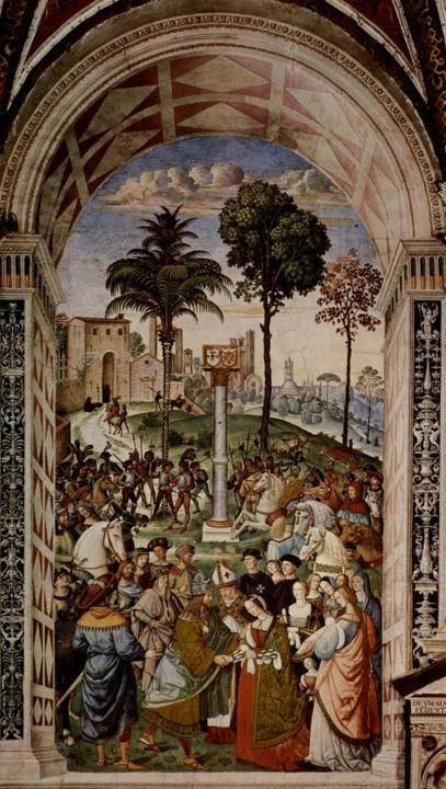 Pintura de Pinturicchio representando.jpg