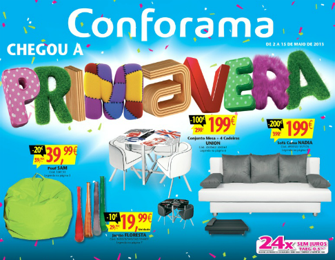 folheto cat logo conforama novidades campanhas. Black Bedroom Furniture Sets. Home Design Ideas