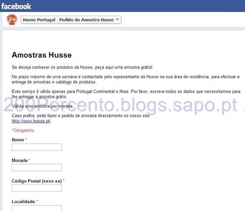 Pedir Amostra Husse