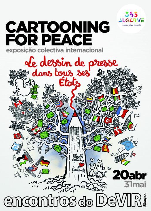 """d6baf9538 A Galeria de Arte da Praça do Mar, em Quarteira, recebe de 20 de abril a 31  de maio, a Exposição """"Cartooning for Peace"""", integrada no programa dos 5ºs  ..."""