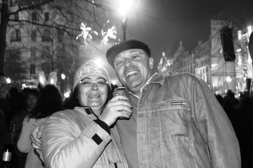 Nos Aliados, aos primeiros minutos do Ano Novo...!