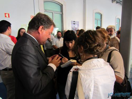 Exposição coletiva de Fotografia «Figueira da Foz, aqui sou feliz» - Presidente João Ataíde a falar aos jornalistas [en] Exhibition of Photography «Figueira da Foz, I am happy here»