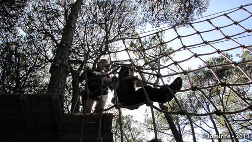 Parque Aventura: Passar a grande rede