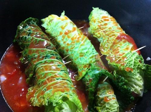 Salsichas enroladas
