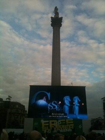 Ópera em Trafalgar Square