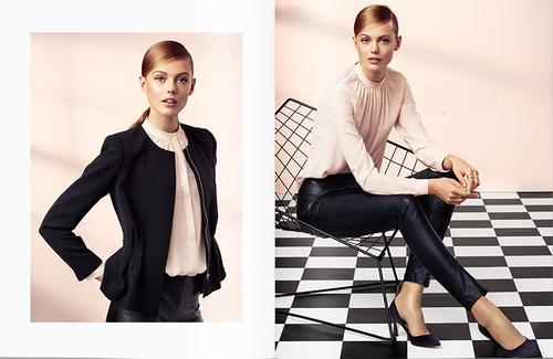 hum look moderno clssico moda outono blusa chiffon uac jacket uac calas imitao de couro uac
