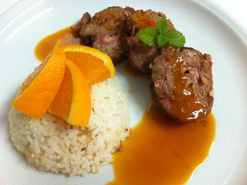 Rolo de Carne com Laranja