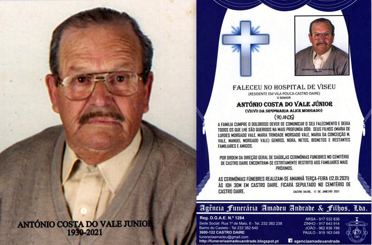 FOTO RIP  DE ANTÓNIO COSTA DO VALE JUNIOR-90 ANOS