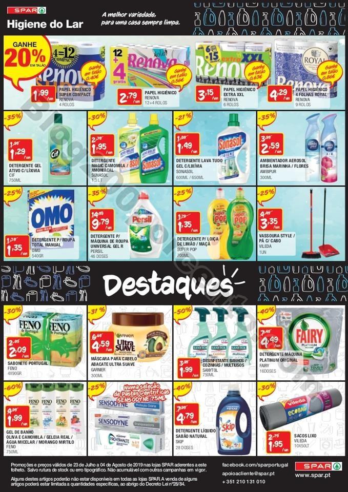 Antevisão Folheto SPAR Promoções de 23 julho a