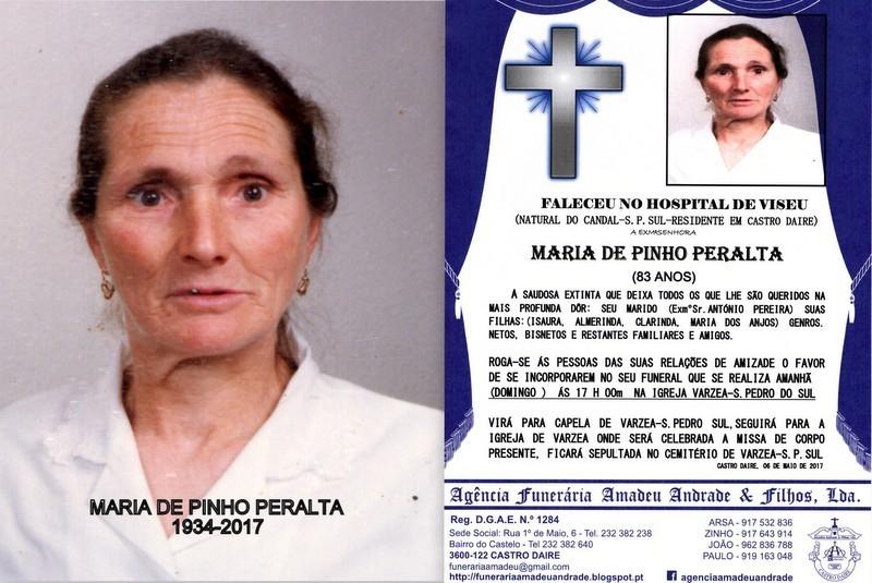 RIP E FOTO - MARIA DE PINHO PERALTA -83  ANOS (VAR