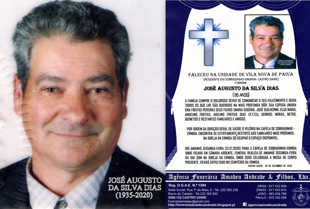 FOTO RIP  DE JOSÉ AUGUSTO DA SILVA DIAS-85 ANOS (