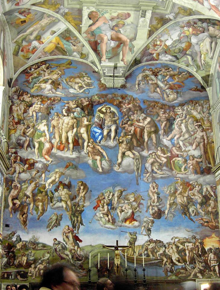 Afresco, O Juízo Final D' Michelangelo Buonarroti