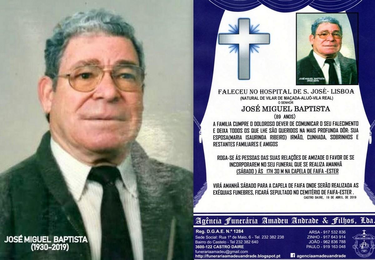 FOTO RIP-JOSÉ MIGUEL BATISTA -89 ANOS (FAIFA) DE