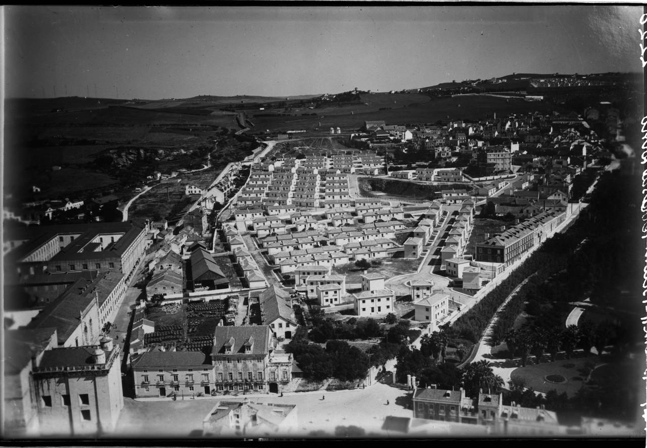 Fotografia aérea sobre Belém, com o Bairro Novo