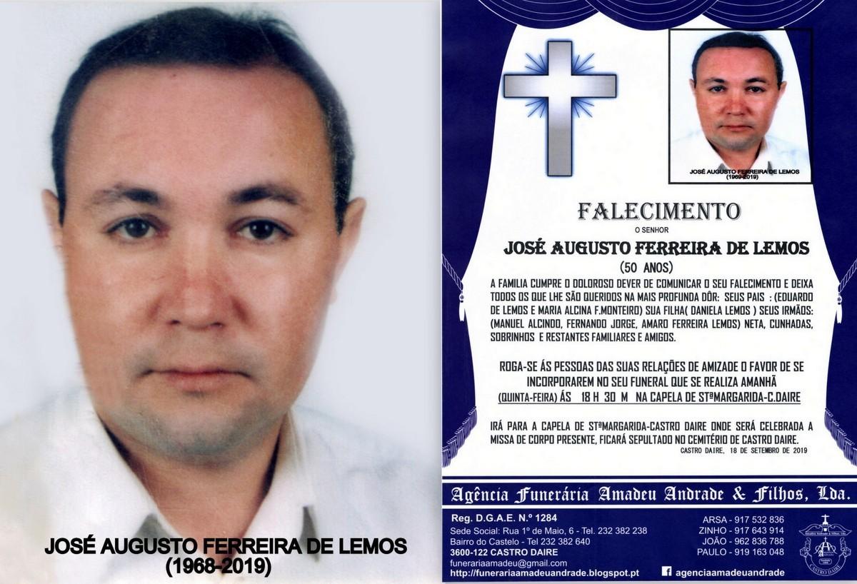 FOTO NOVA RIP  DE JOSÉ AUGUSTO FERRREIRA DE LEMOS