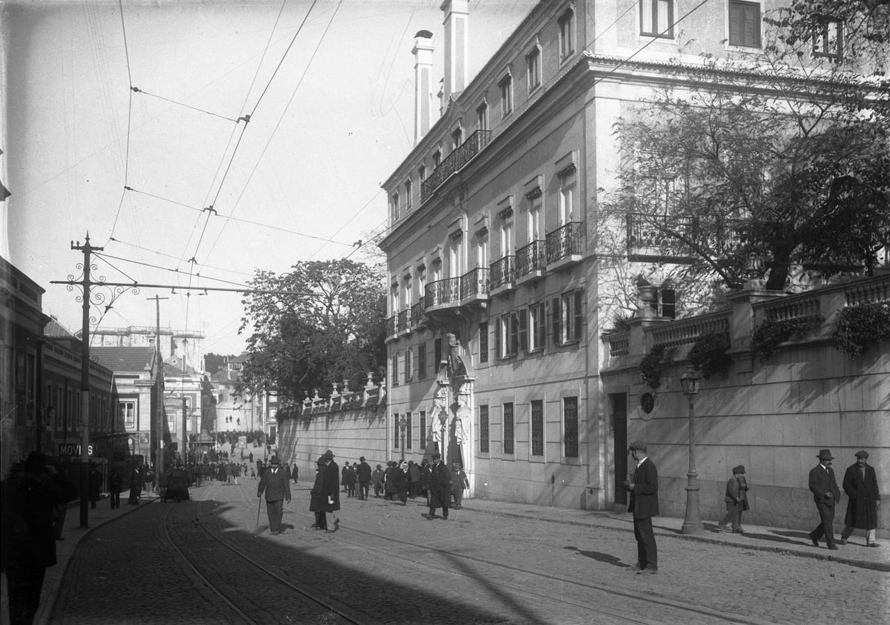 Palácio dos Duques de Palmela, 1917, foto de Josh