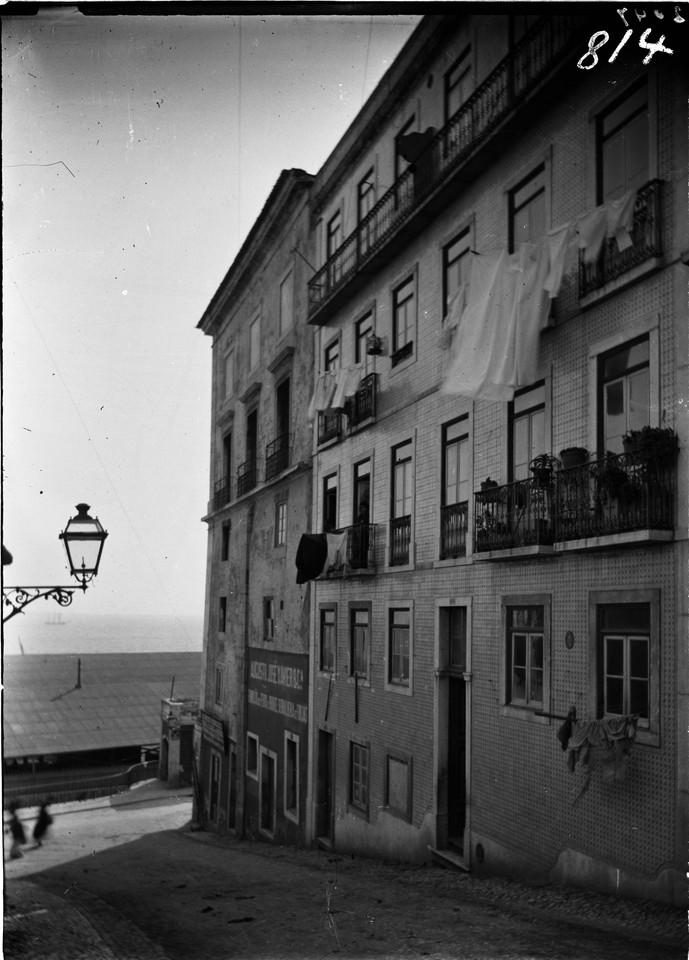 Calçada dos Cesteiros, 1907, foto de Machado & So