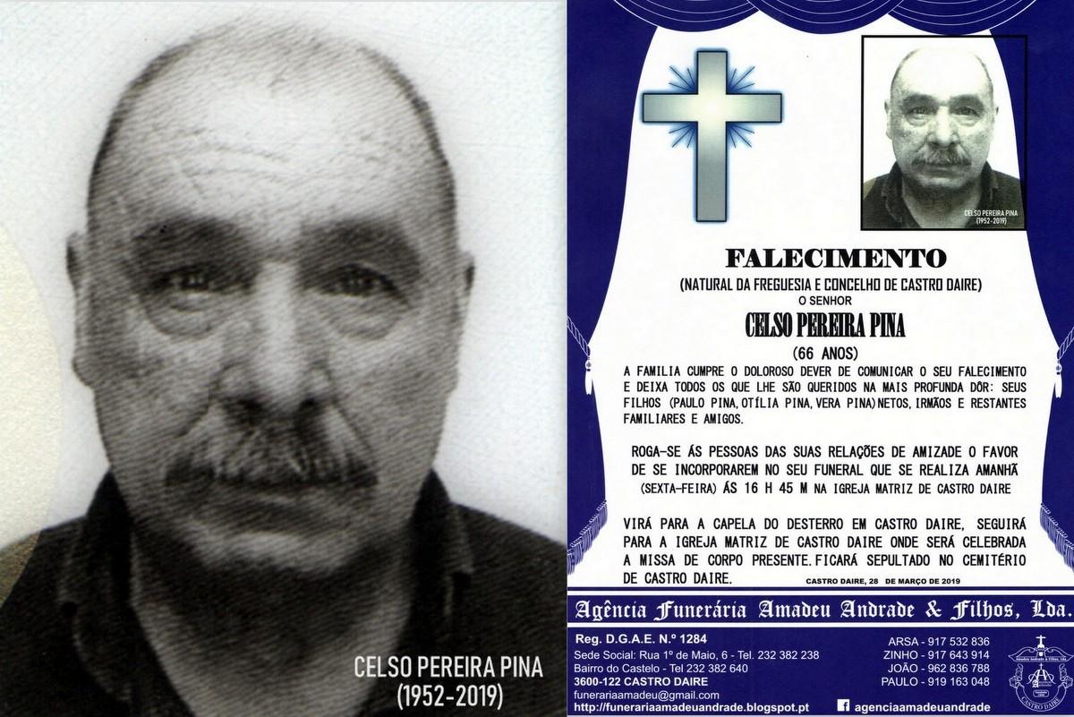 FOTO-RIP  DE CELSO PEREIRA PINA -66 ANOS (CASTRO D