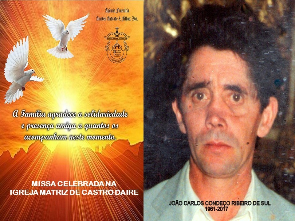 CARTÃO DE AGRADECIMENTO-JOÃO CARLOS CONDEÇO RIB