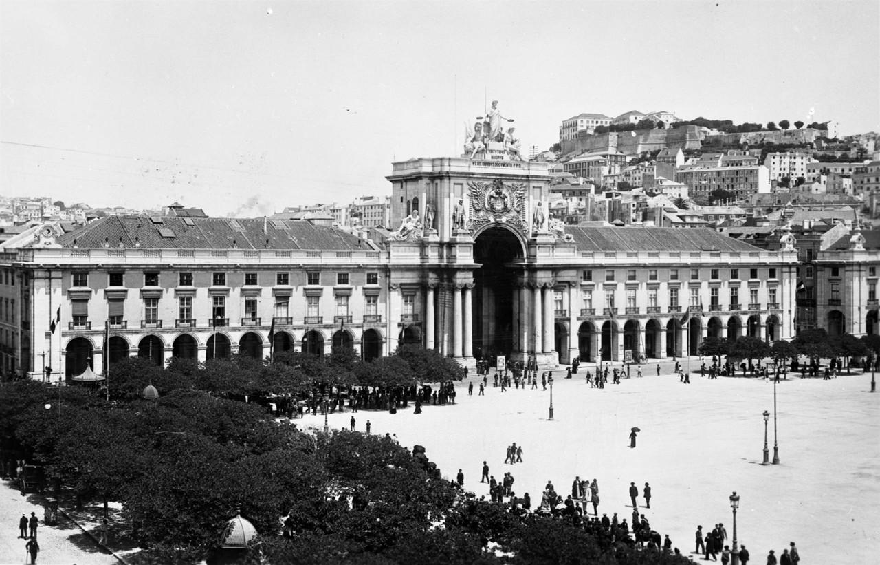 Praça do Comércio, foto de Eduardo Portugal, ant