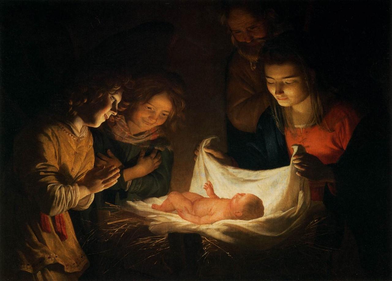 A Adoração do Menino, c. 1620 (G. Van Honthorst,