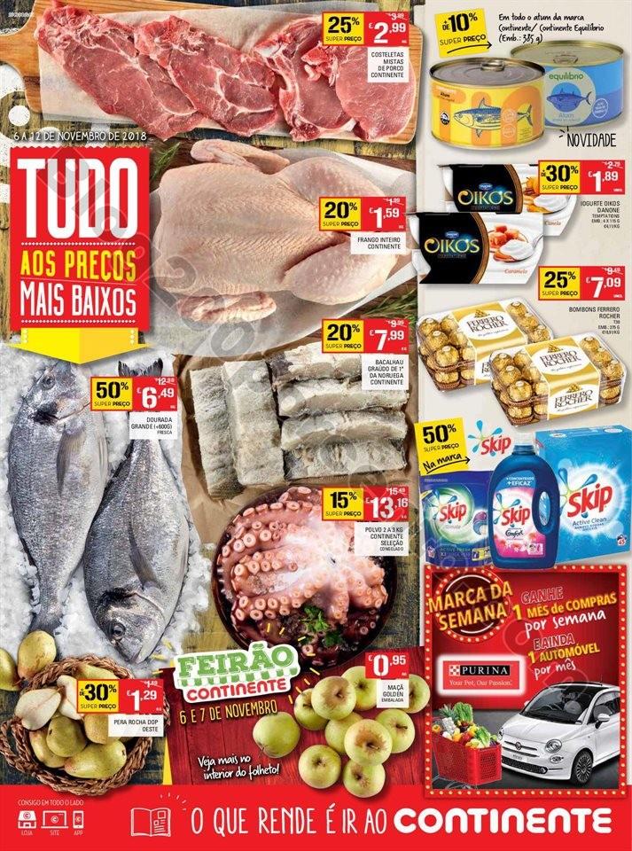 Folheto Promoções Continente Antevisão 6a12nov