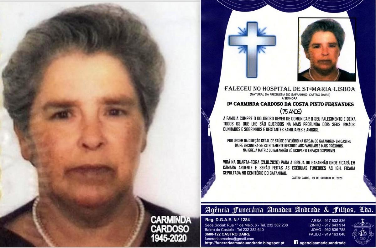 FOTO RIP DE CARMINDA CARDOSO DA COSTA PINTO FERNAN